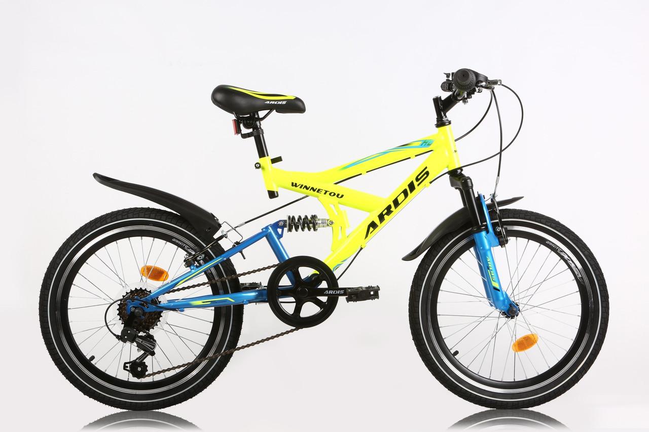 """Детский велосипед ARDIS WINNETOU AMT 20""""   Желтый/Синий"""