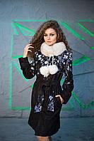 Плащ кожаный Oscar Fur 487 Черный, фото 1