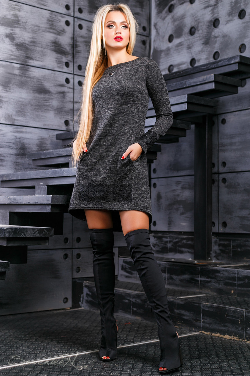 Красивое женское платье 2384 черный