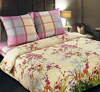 Постельное белье Утренний сад, поплин 100%хлопок -двуспальный комплект