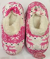 Тапочки комнатные, мягкие, теплые - домашние балетки Розовые