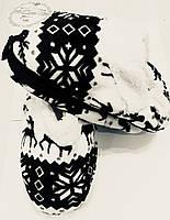 Тапочки комнатные, мягкие, теплые - домашние балетки Черные