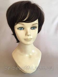 Полунатуральный парик №3 Цвет черный шоколад