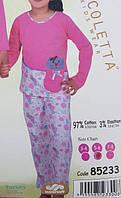 Розовая детская пижама для девочки