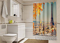 """Фото Шторка для ванной """"Осень в Париже"""""""