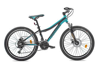 """Подростковый велосипед ARDIS CLEO MTB 24"""",13""""  Черный/Голубой"""