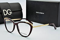 Оправа Dolce & Gabbana коричневая с золотом, фото 1