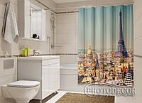 "Фото Шторка для ванной ""Париж на ладони"""
