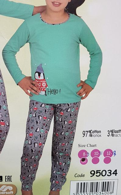 Пижама детская подростковая для девочки пингвин - EVA LOOK в Хмельницком 6090ce98253a4