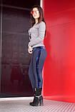 """Лосіни жіночі з хутром сині """"Карла"""" арт.3301, фото 2"""