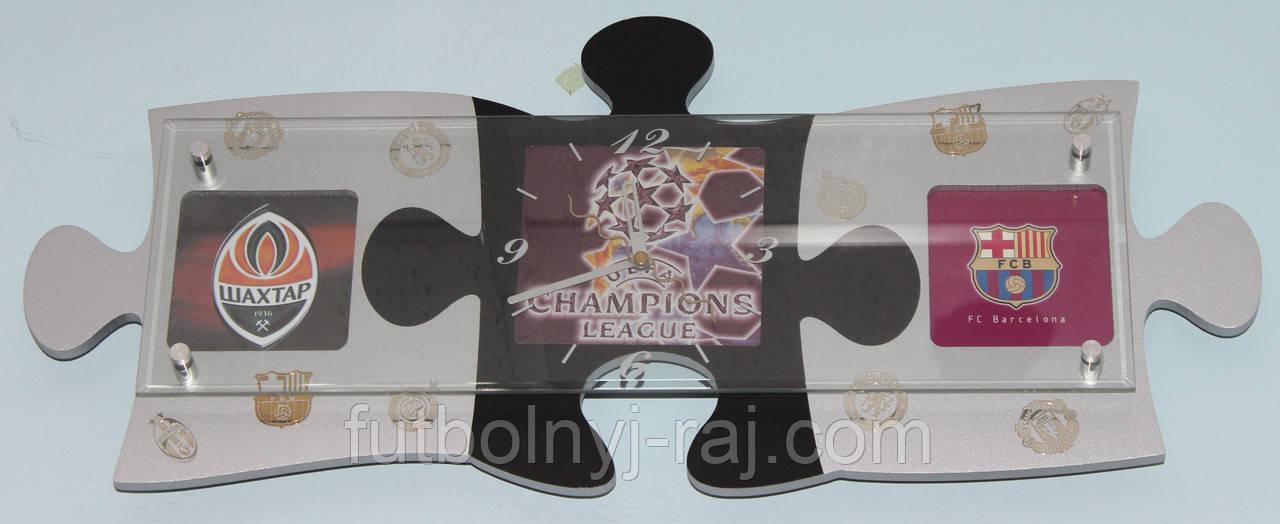 Годинники настінні у вигляді пазла з символікою Ліги Чемпіонів