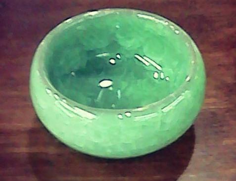 Пиала из иссинской глины с эффектом колотого льда (нефрит) 50 мл.