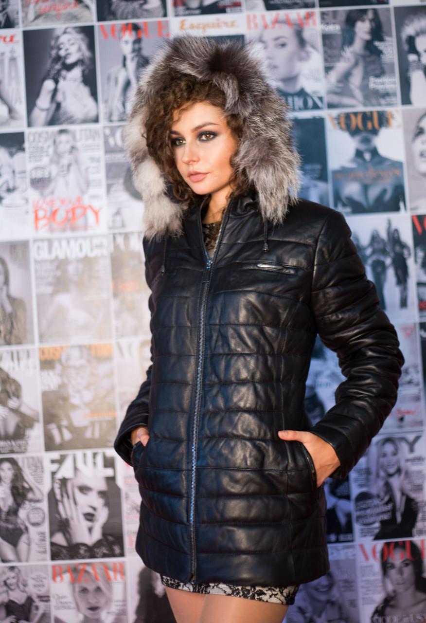 Куртка кожаная Oscar Fur 387 Черный