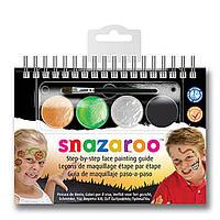 Набор красок для аквагрима, Halloween, 4цв.+1 кисть, Snazaroo