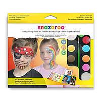 Набор красок для аквагрима, 9цв.+кисть+спонж, Boy hanging palette kit, Snazaroo