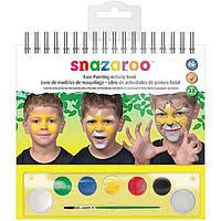 Набор красок для аквагрима, 6цв.+кисть+спонж, Activity kit, Snazaroo