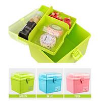 "Бокс - Органайзер ""Storage BOX"" шкатулка для рукоделия и хранения. Три цвета"