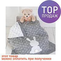 Вязаный плед для новорожденных Ушастый мечтатель / товары для детей
