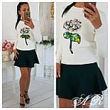 Модный женский свитер с аппликацией ( 2 цвета), фото 3