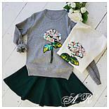 Модный женский свитер с аппликацией ( 2 цвета), фото 5