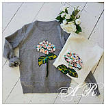 Модный женский свитер с аппликацией ( 2 цвета), фото 6