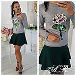 Модный женский свитер с аппликацией ( 2 цвета), фото 7