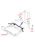 Втулка стабилизатора переднего id=22mm Hyundai I30 ОЕМ 54813-2H000 полиуретан, фото 2