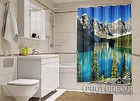 """Фото Шторка для ванной """"Озеро 1"""""""