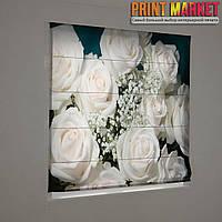 Фотошторы римские букет из белых роз