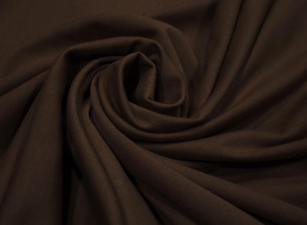 Футер двунитка шоколад оптом (180 см)