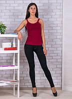 Женские лосины черные  под джинс на меху , лосины  утепленные все размеры , фото 1
