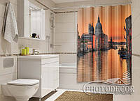 "Фото Шторка для ванной ""Закат над собором Санта Мария"""