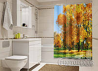 """Фото Шторка для ванної """"Золота осінь"""""""