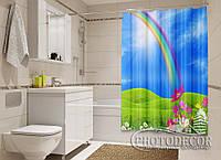 """Фото Шторка для ванной """"Радуга"""""""