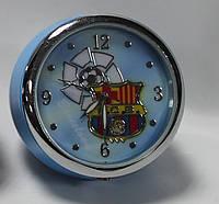 Часы настольные круглые с символикой FC Barcelona