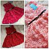 Нарядные платье 3Д розы для девочки на 1-2 года, фото 4