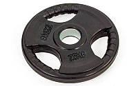 Блины обрезиненные (диски обрезиненные) с тройным хватом и металлической втулкой 8122-7,5: вес 7,5кг
