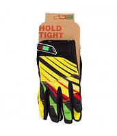 Перчатки Green Cycle NC-2369-2014 MTB с закрытыми пальцами L желто-красные