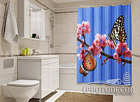 "Фото Шторка для ванной ""Две бабочки"""