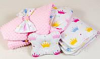 Демисезонный конверт - одеяло на выписку Принцесса 80 х 85см , фото 1