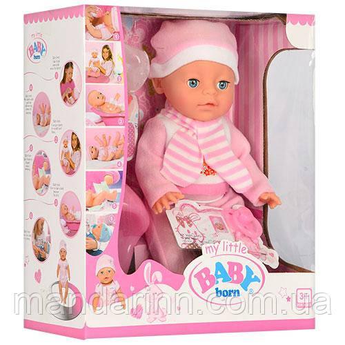 Кукла-пупс Baby Born, 38 см, 6 функций, YL1710-1