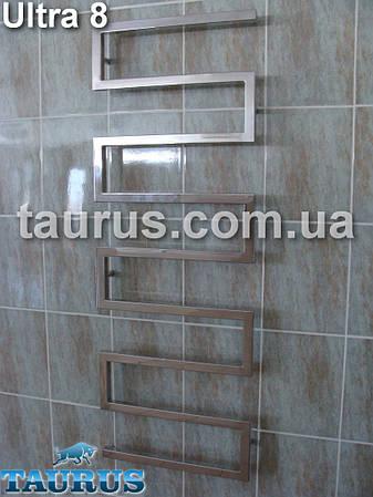 Дизайнерский полотенцесушитель для большой ванной Ultra 8 шириной 550 мм. Высотой 1400мм