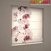 Фотошторы римские матовая орхидея