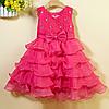 Нарядное пышное платье для девочки коралловое, фото 4
