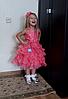 Нарядное пышное платье для девочки коралловое, фото 2