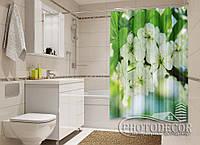 """Фото Шторка для ванной """"Весенние цветы"""""""