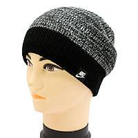 Cпортивная шапка из меланжевой пряжи