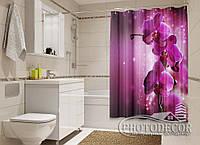 """Фото Шторка для ванной """"Сливовые орхидеи"""""""