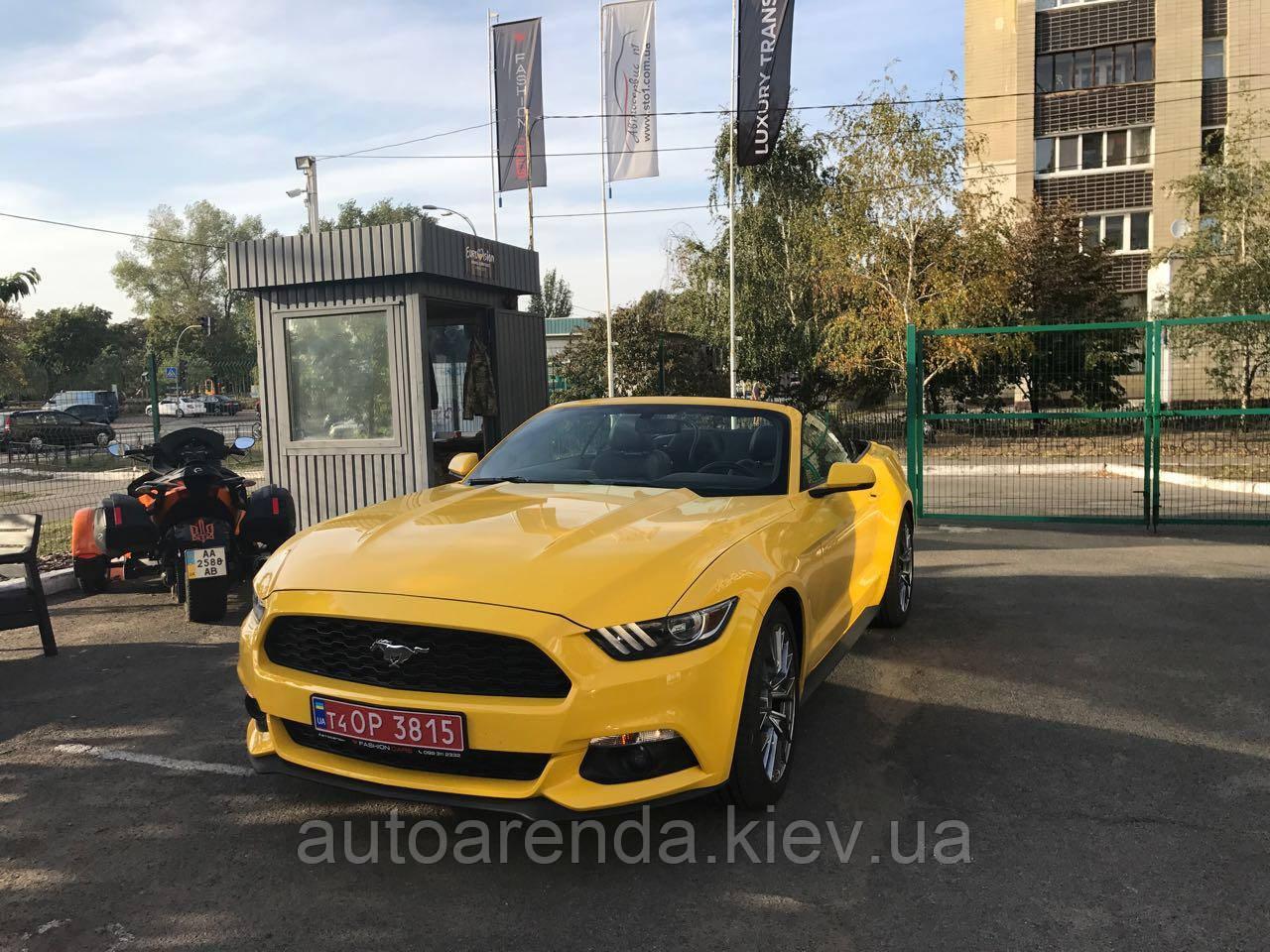 Аренда нового кабриолета Ford Mustang