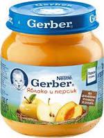 Гербер пюре яблоко персик 130г new